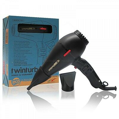 TWINTURBO HAIR DRYER 3800 Compact Ceramic Ionic Made in Italy by Parlux 2100wats