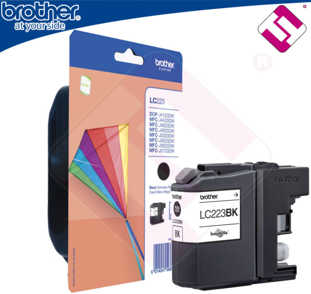 Ink Original Black LC223BK For Printer MFC J480DW Cartridge Black Brother