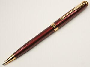 Parker-Sonnet-Red-Gold-Clip-Ballpoint-Pen-0-5mm-Nib-Office-Student-Stationery