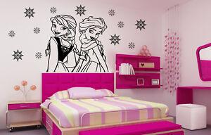 Frozen-Elsa-and-Anna-Wall-Art-Stickers-Disney-Decals-Bedroom-Home-Decorations