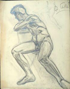 034-034-auto-portrait-nu-034-vers-1950-60-par-Andre-TELLIER
