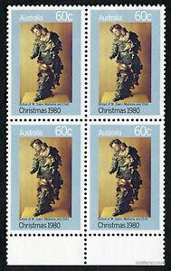 1980-Christmas-Madonna-amp-Child-Block-of-Four-4-MUH-Mint-Stamps-Australia