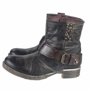Details zu Otto Kern Damen Stiefel Stiefeletten Boots Leder Größe 38 Braun