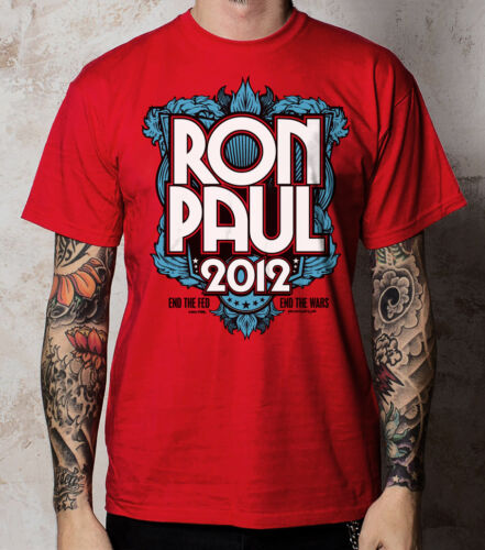 FREE Sticker // End the Fed MEDIUM - red RON PAUL 2012  t shirt 3-color