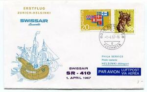 Charmant Ffc 1967 Caravelle Swissair First Flight Zurich Helsinki Registered Flughafen