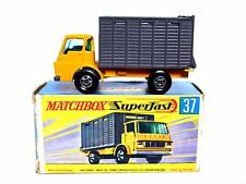 Matchbox Lesney No.37c Dodge Cattle Truck tipo 'G2' Caja de fin aleta (modelo de Excelente!!!)