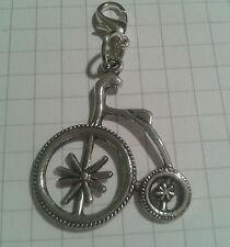"""Encanto plata tibetana """"Grande Penny Farthing Bicicleta para/Bolsos de mano."""