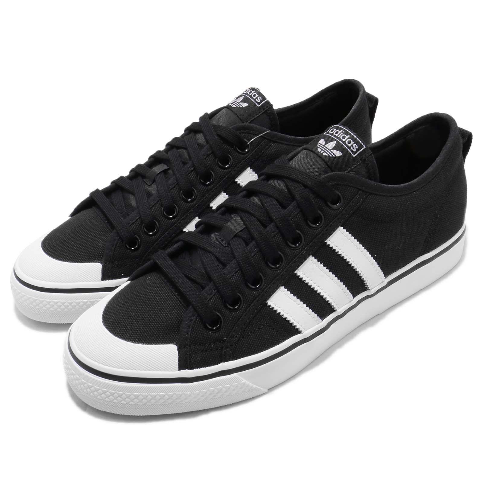 Adidas Originals Nizza Black White Canvas Men Casual shoes Sneakers CQ2332