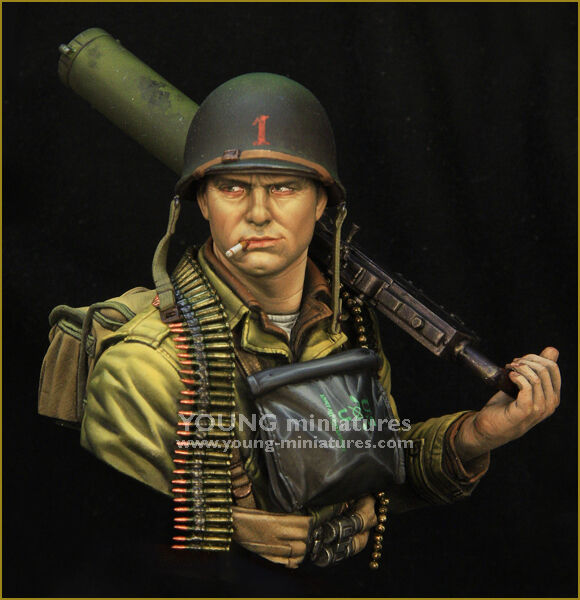 Young Miniatures US Infantry D-Day 1944 YM1861 WW2 1 10th Unpainted Bust