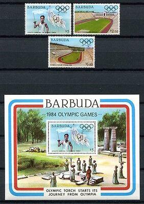 Barbuda 1984 Olympiade Olympics Los Angeles 739-41 Block 85 Postfrisch Mnh