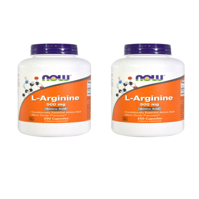 2X NOW FOODS L-ARGININE HERBAL SUPPORT DAILY BODY METABOLISM DIETARY SUPPLEMENT