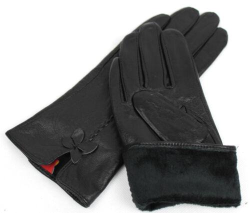 Damen Echt Leder Handschuhe Gefüttert Gr .6,5   7   7,5   8    8,5    //N40