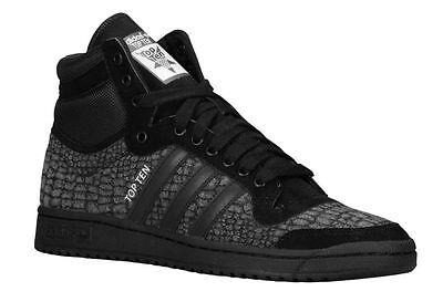 Adidas Originals Top Ten Hi Retro Mens Shoes CROC PATTERN, NEW S85711 Sneakers