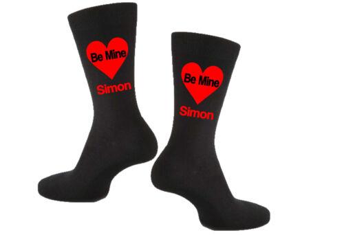 Novelty Gift Socks Ladies Personalised Vinyl Printed Valentines Day Be Mine..