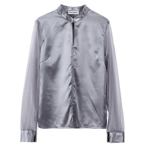 6 Colors Women Long Sleeve Satin Silk Blouse Elegant OL Work Shirts Tops S-XXL
