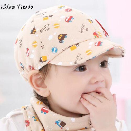 2018 Cotton Infant Toddler Kids Baby Boys Girls Sun Cap Summer Cartoon Baby Hat