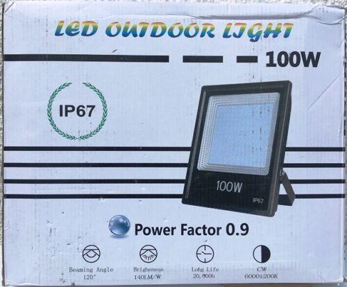 LED Outdoor Light Strahler Flutlichtstrahler Power Factor 0.9 100W IP67 NEU!
