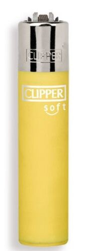 Clipper-super-lighter-gas-refillable-Micro-soft-touch-yellow
