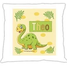 """Kuschelkissen /""""Dino/"""" mit Namen"""