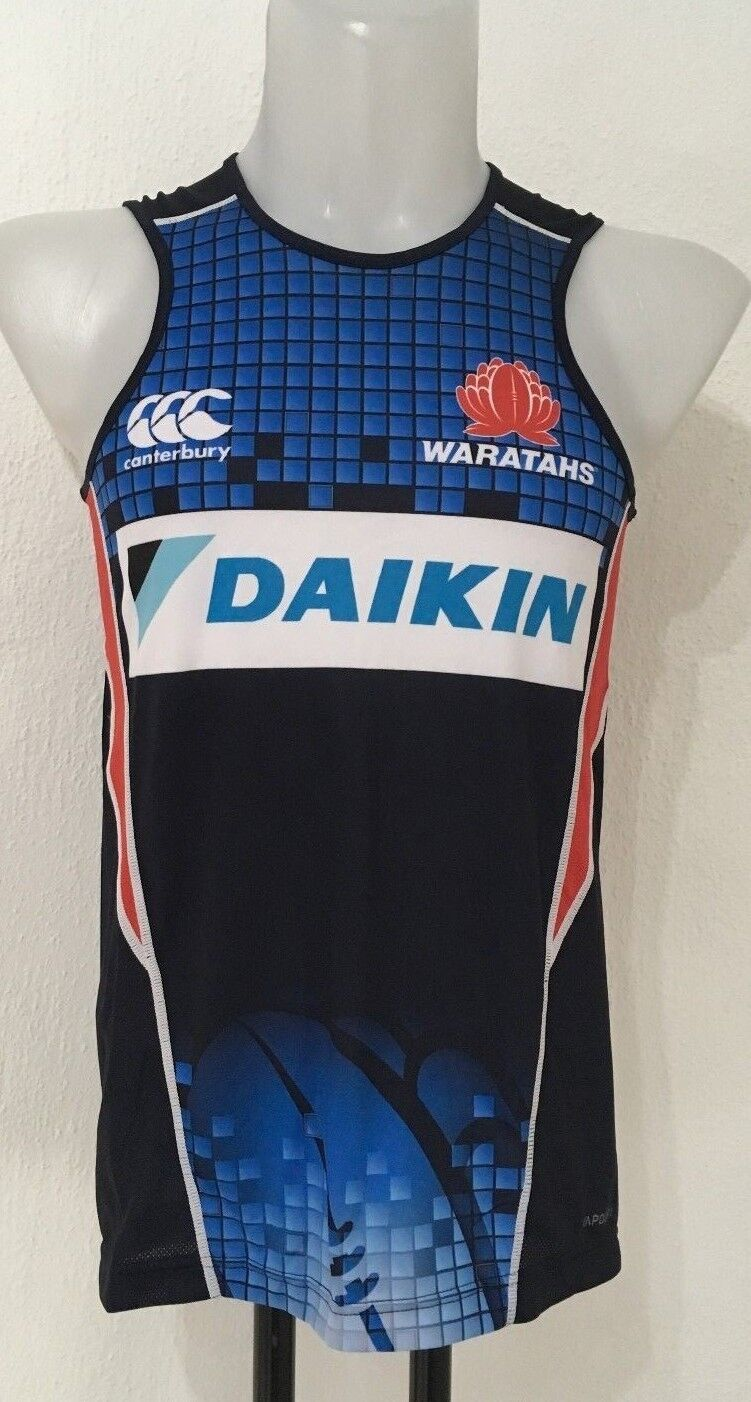 N.S.W. WARATAHS 2017 RUGBY TRAINING SINGLET BY CANTERBURY SIZE MEN'S EXTRA SMALL