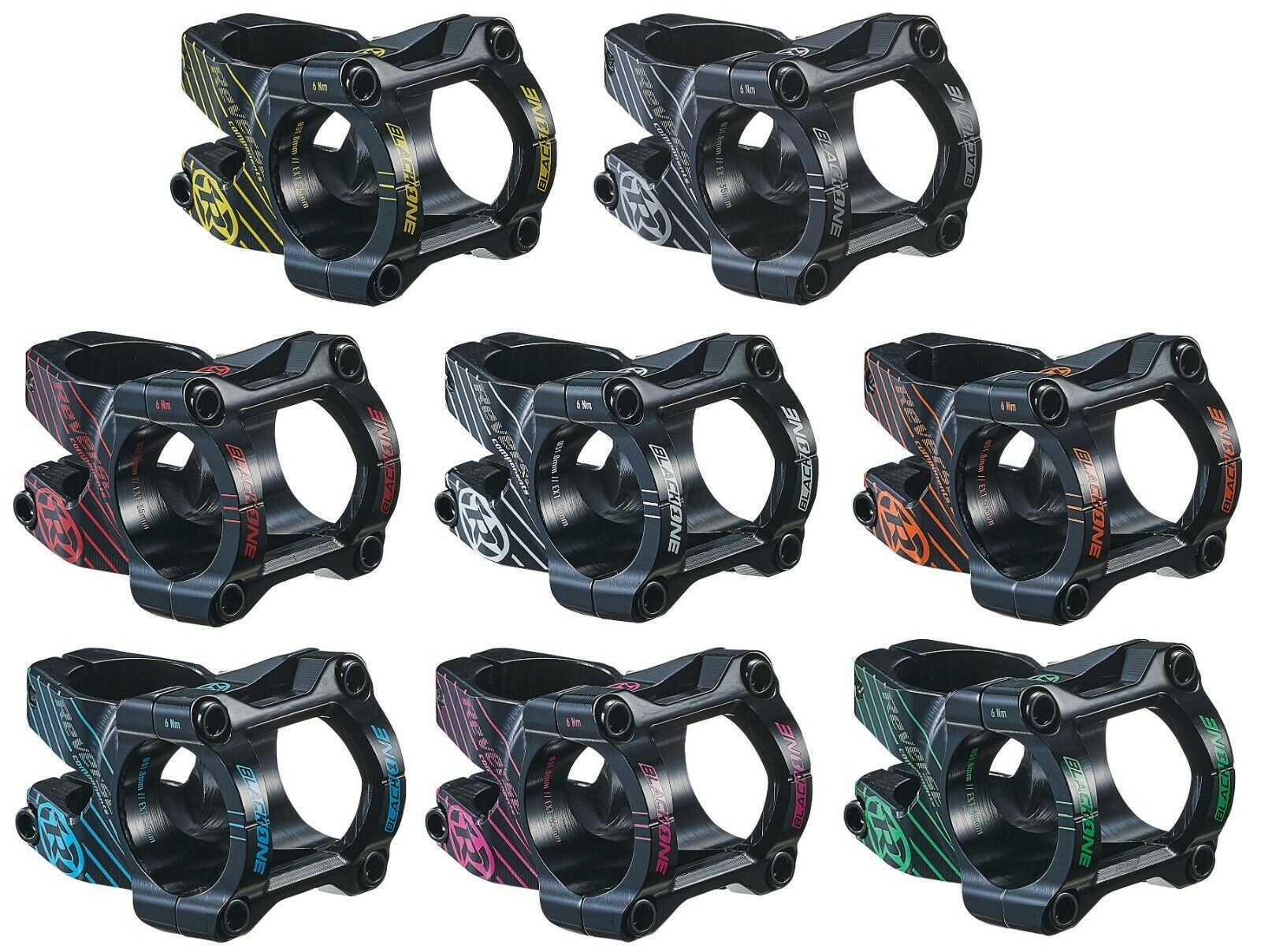 Attacco Del Manubrio Reverse negro One 35 mm per 31,8 Infissi di Bloccaggio