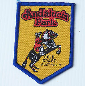 VINTAGE ANDALUCIA PARK GOLD COAST EMBROIDERED SOUVENIR PATCH WOVEN CLOTH BADGE | EBay