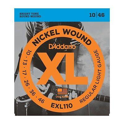 D'ADDARIO EXL110 NICKEL WOUND REGULAR LIGHT ELECTRIC GUITAR STRINGS 10-46 2 PACK