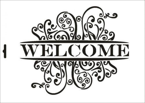 Wandschablone Maler T-shirt Schablone W-133 Welcome ~ UMR Design