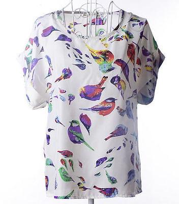 Woman's/Girl's Blouse Chiffon Top Casual Batwing Short Sleeve Loose T-Shirt