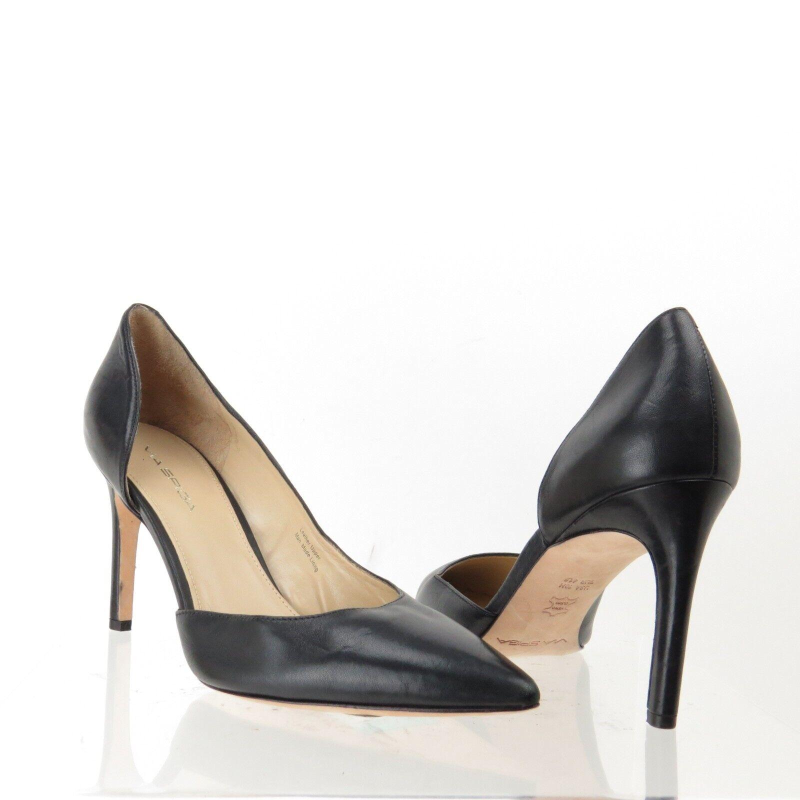 Para mujeres Via Spiga Spiga Spiga Negro Puntera en Punta bombas Clásico Zapatos Taco Alto Talla 10 M Nuevo  Todo en alta calidad y bajo precio.