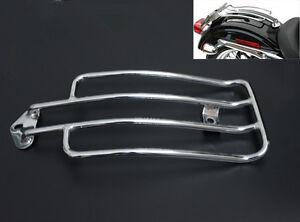 Chrome Solo Luggage Rear Fender Rack For Harley XL Sportster 883 1200 1985-2003