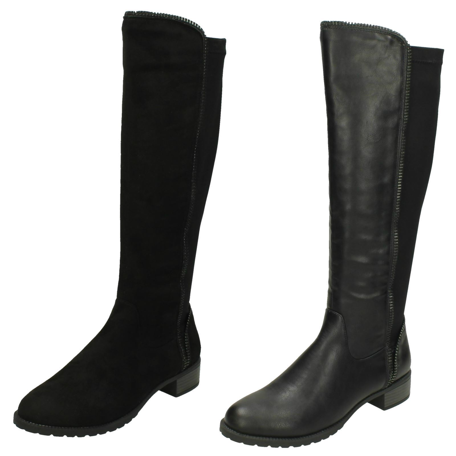 Ladies Spot On Zip Fastening Boots F5R0868