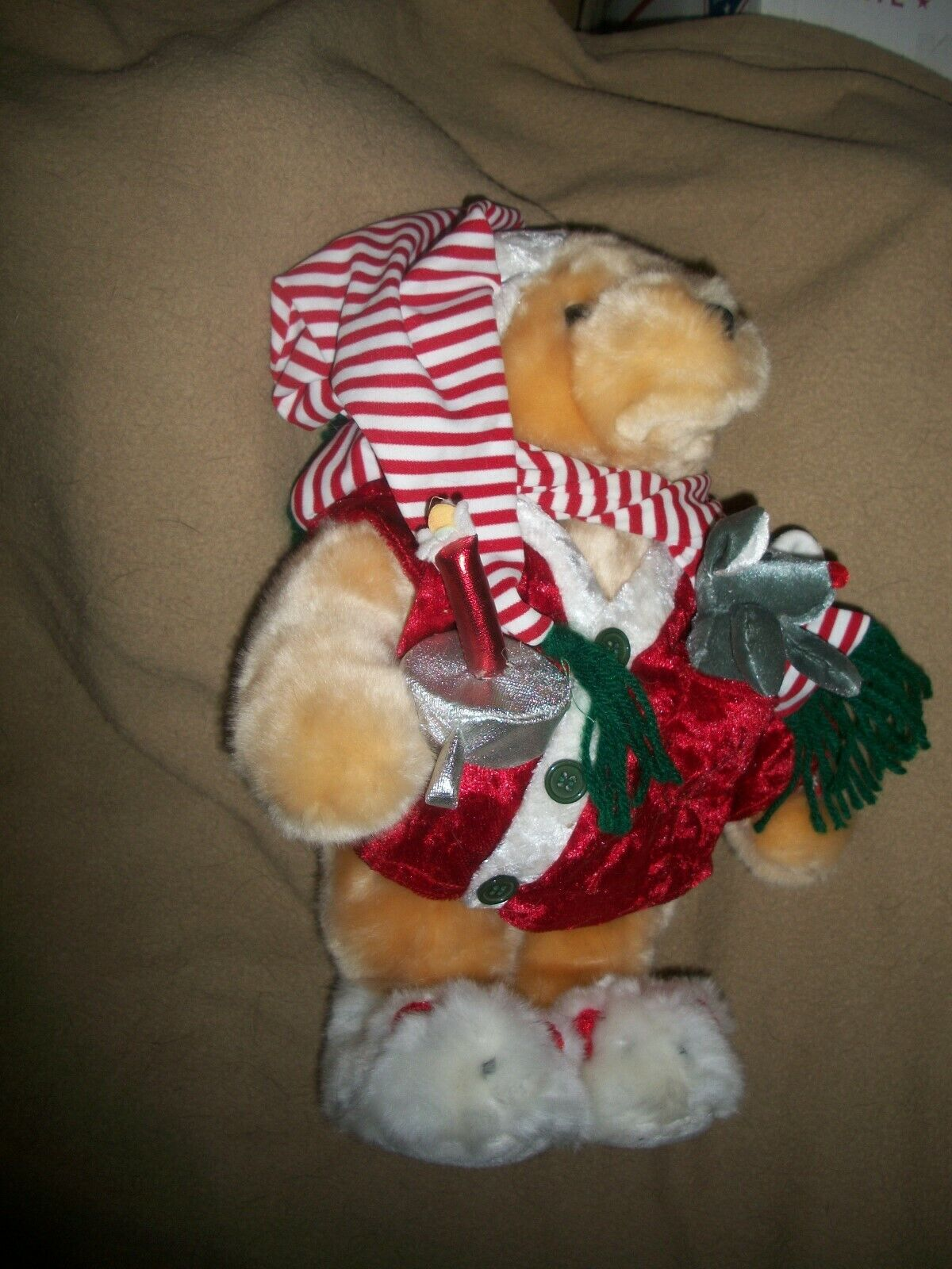 "DANDEE MOVING TALKING CHRISTMAS BEAR RECITES ""THE NIGHT BEFORE CHRISTMAS"" RARE"