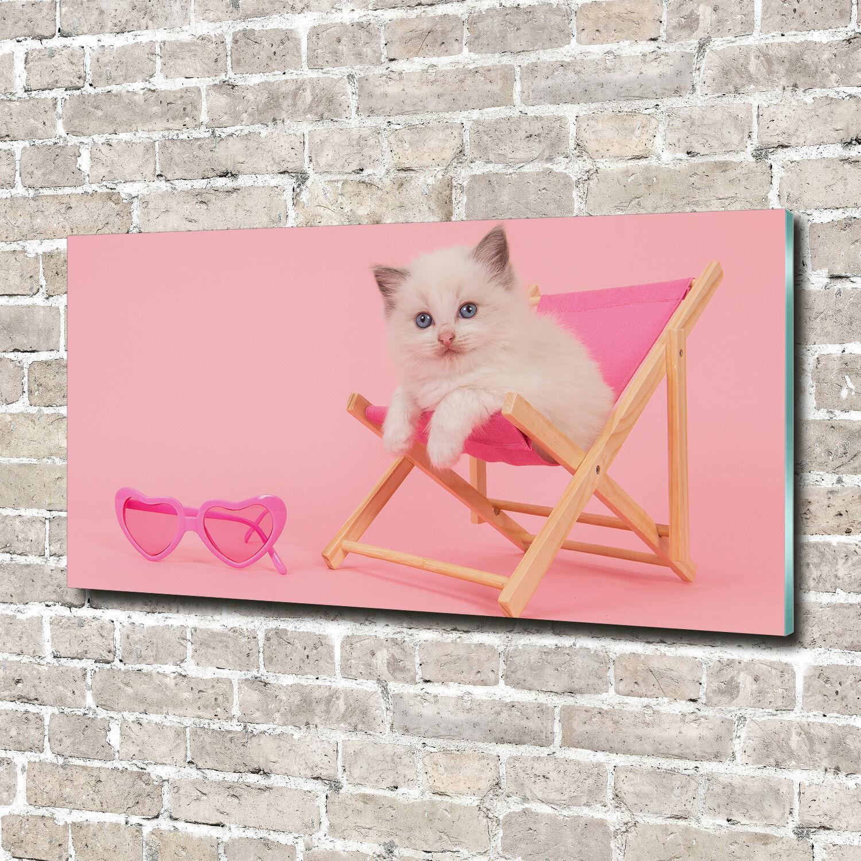 Cuadros de pa rojo  de pantalla de cristal cristal impresión en cristal cristal 140 x 70 animales decorativos gato ocioso ab3e6b