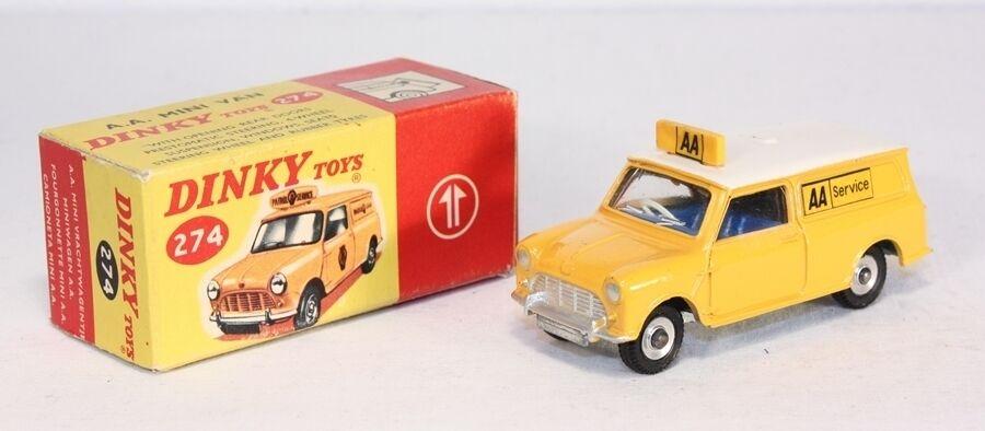 DINKY TOYS 274, A.A.  Mini Van, Comme neuf Dans Box  ab1642  prix équitables