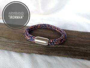 Segeltau Armband Ironman 8mm Edelstahl Magnetverschluss Ebay