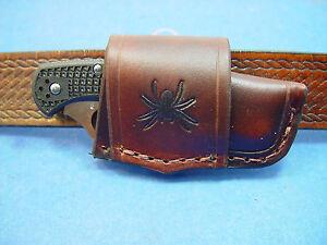 Custom Leather Crossdraw Sheath For Spyderco Delica 4 Knife Ebay