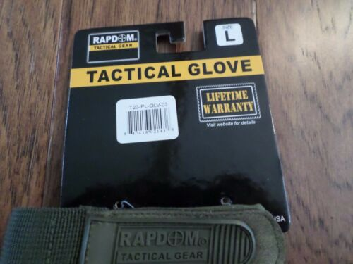 Half Finger Lightweight Tactical Shooters Gloves Patrol Military Specs Padded OD