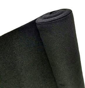 5 Yards Black Upholstery Un Backed Trim Automotive Carpet 40x 15Ft