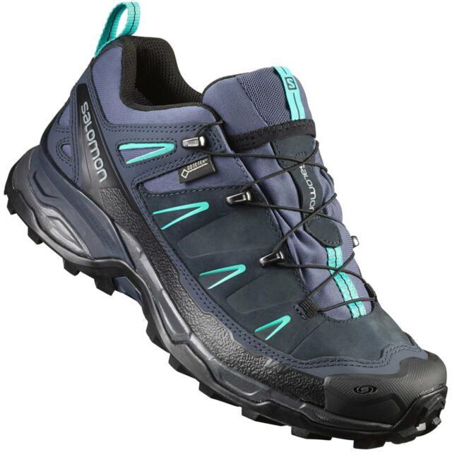 Salomon x Ultra Leather GTX Goretex Women's Running Shoes Hiking Leder Trail