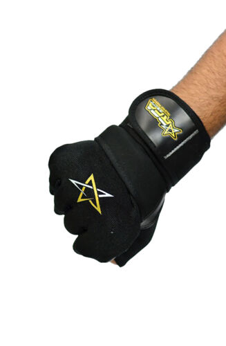RFA Men/'s Weight Lifting Gloves Gym Workout Glove Leather Fitness Exercise-Black