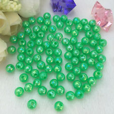 Wholesale150pcs 6mm Acrylic Pearl Round Spacer Loose Beads green colour ! !