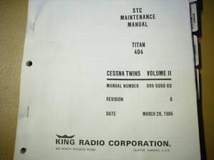 kfc 200 autopilot in cessna titan 404 service manual ebay rh ebay ie Bendix King KFC 200 Auto Pilot king kfc 200 autopilot installation manual