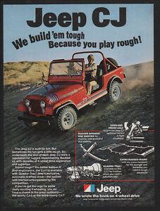 1979 red jeep cj renegade truck car 4x4 4 wheel drive vintage ad ebay. Black Bedroom Furniture Sets. Home Design Ideas