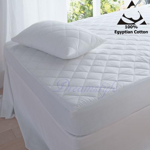 Pillow Pair Protector 100/% Egyptian Cotton T-200 16/'/'DEEP Mattress Protector