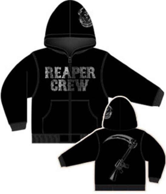 eae1f0f5727 Sons of Anarchy Reaper Crew Adult Zip Up Hoodie Sweatshirt - Officially  Licensed