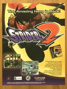 Strider-2-PS1-PSX-Playstation1-2000-Vintage-Print-Ad-Poster-Official-Promo-Art