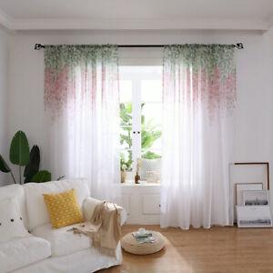 Sheer-Curtain-Flower-Print-Tulle-Door-Window-Balcony-Valances-Home-Room-Decor-6L