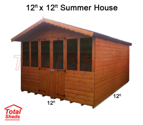 12 x 12 SUPREME SUMMER HOUSE LOG CABIN OFFICE TOP QUALITY GRADED WOODEN TIMBER