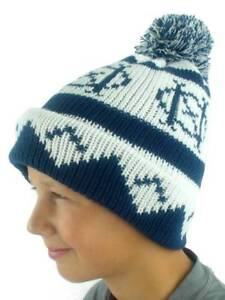 O'Neill Pompom Hat Winter Hat Beanie Billboard Blau Norwegian Pattern